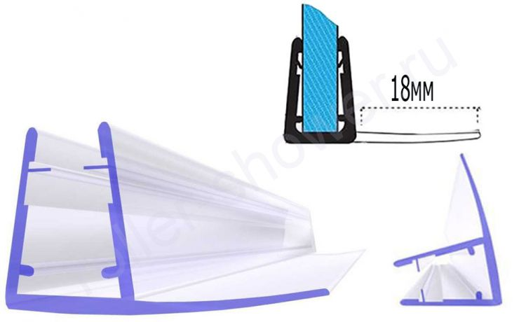 Серия-F Уплотнители для душевых кабин, толщина стекла (4,5,6,8мм)